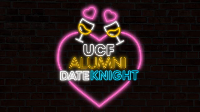 UCF Alumni Date Knight promotional graphic