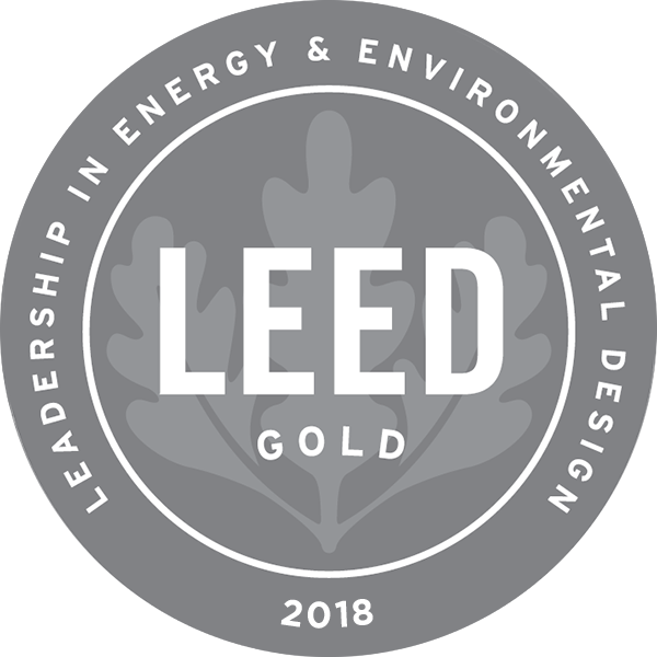 Leed Certified Gold 2018 logo