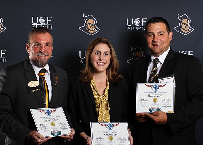 UCF Alumni Honors 2015 Jefferson Award Recipients