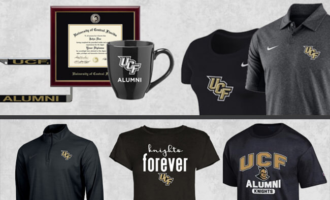 #ALUMKNIGHTS UCF Alumni Bookstore merchandise program
