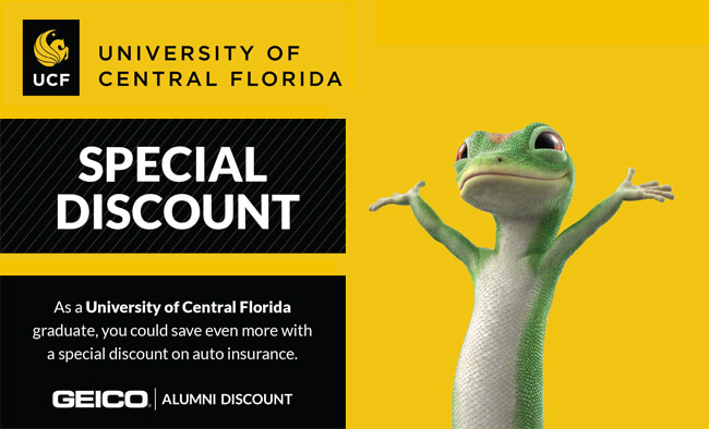 UCF Alumni Geico discount promotion