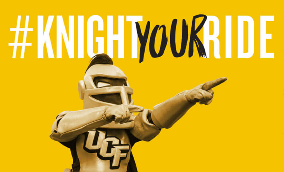 Knight Your Ride UCF License Plates