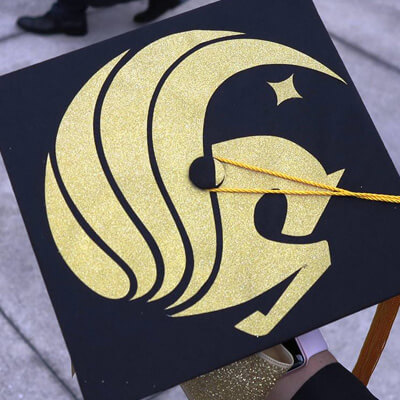 UCF Pegasus inspired graduation cap