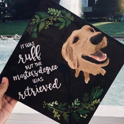 UCF Dog inspired graduation cap