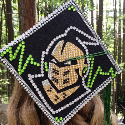 UCF Knightro inspired graduation cap