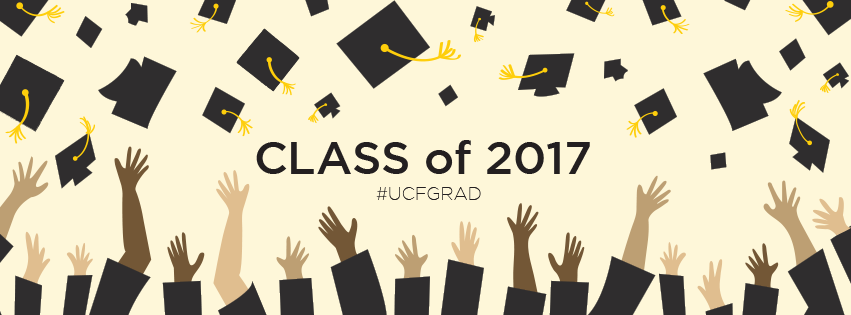 Facebook Cover Photo - Graduation 2017 - Caps